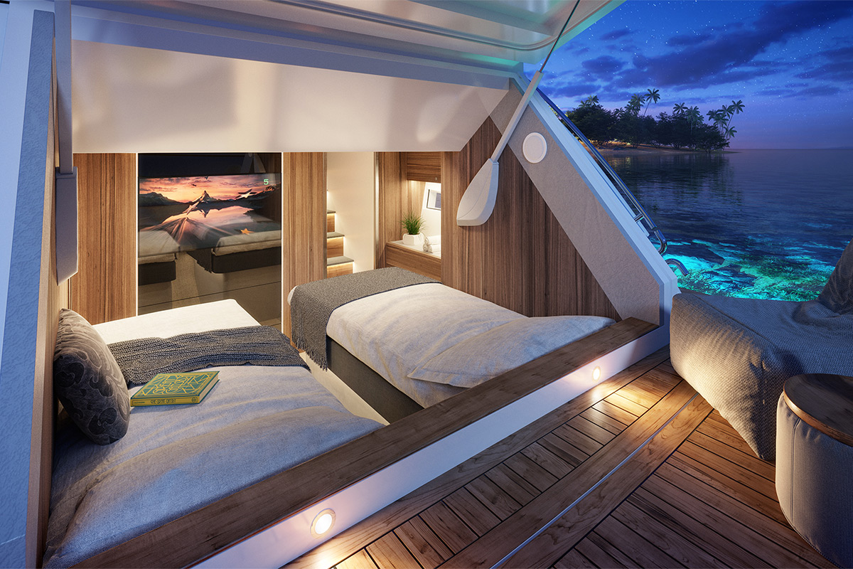 Yachts bedroom view