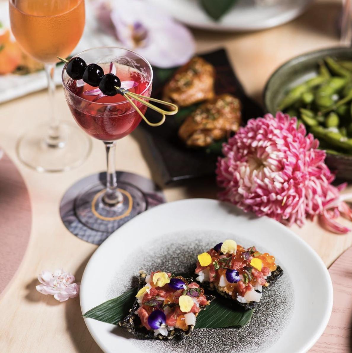 Saké Cherry Blossom Dinner