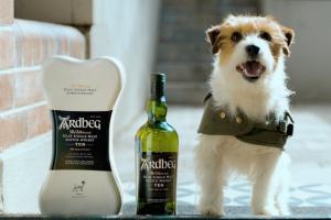 dad Ardbeg whisky dog delivery
