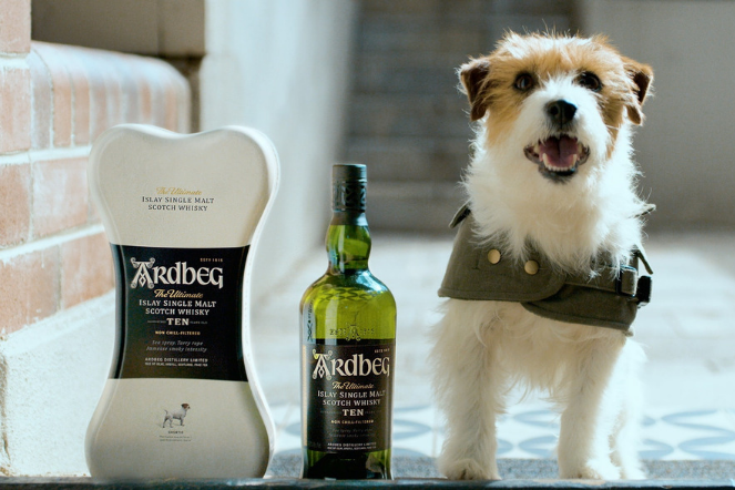 dad Ardbeg whisky dog delivery