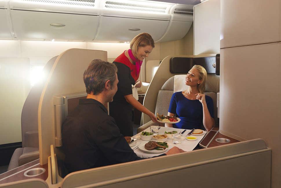 Qantas Airbus A380 dining