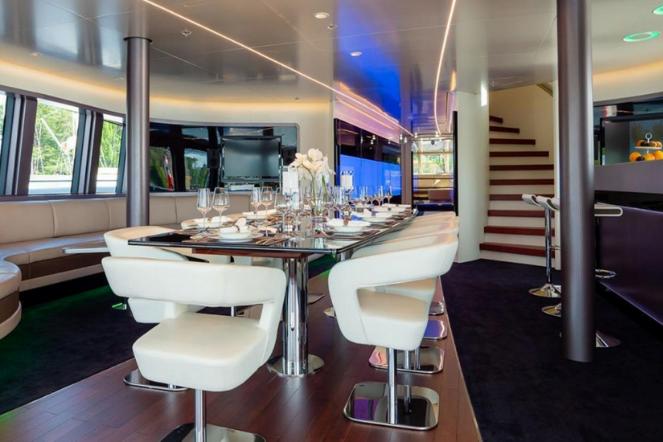 Catamaran Interior Dining Area