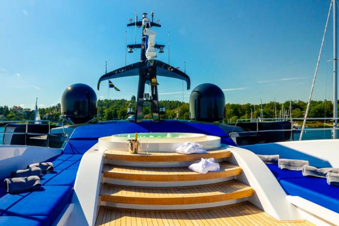 Catamaran On Deck Spa Jacuzzi