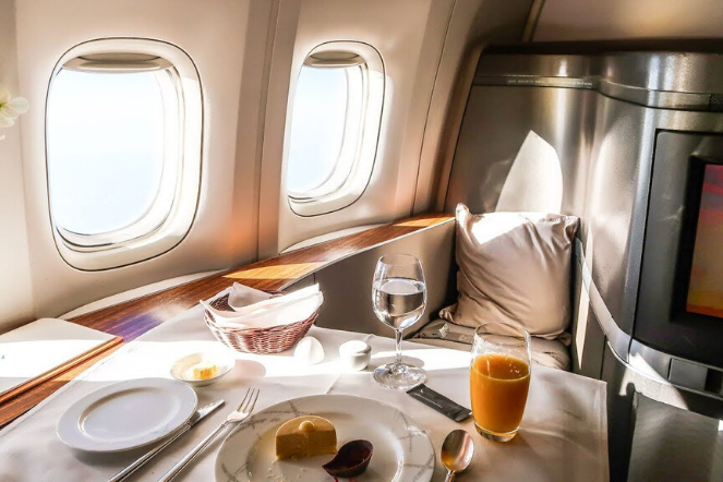 First Class Cathay Pacific Cabin