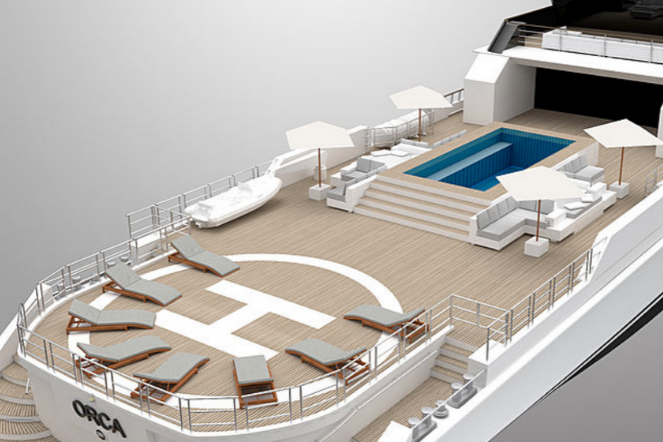Orca Super Yacht Deck Design